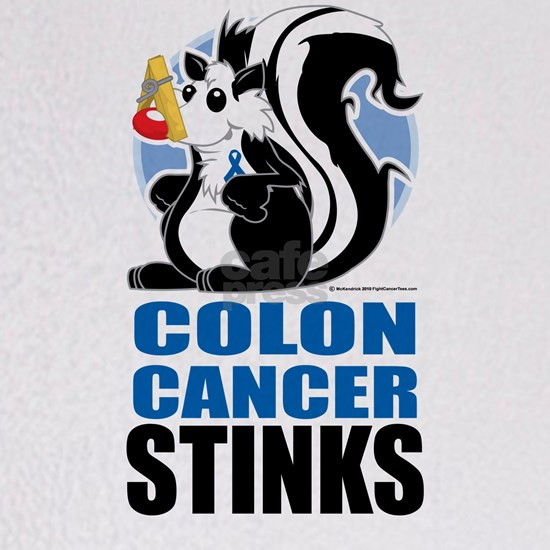 Colon Cancer Stinks Throw Blanket By Cuddleswithcats Cafepress