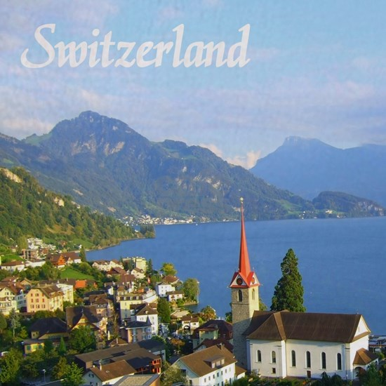 Switzerland view over lake