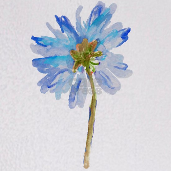 Watercolor Daisy Flower Blue