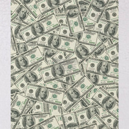 100 Dollar Bill Money Pattern