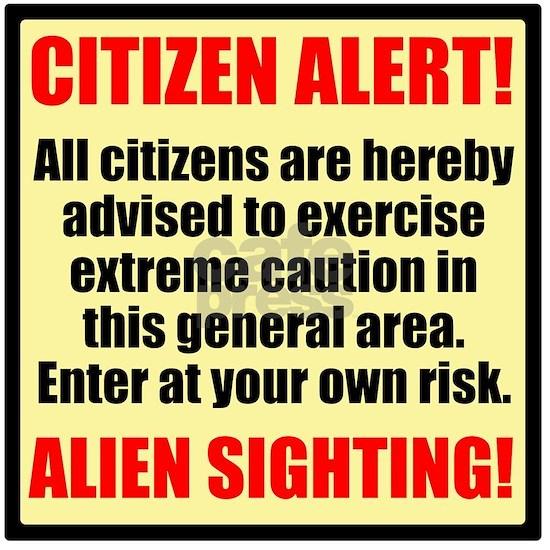 Citizen Alert! Aliens! Throw Blanket