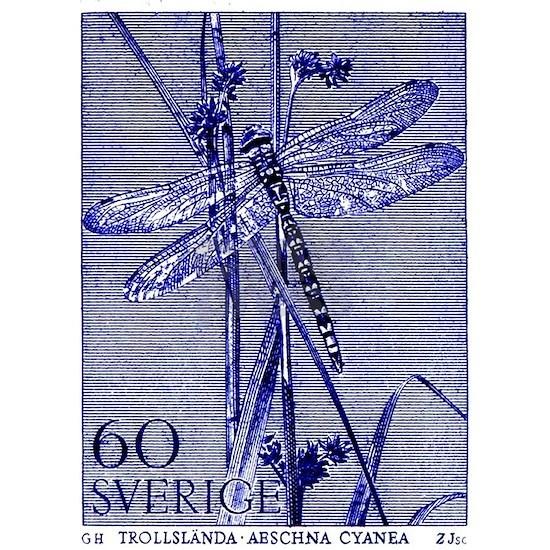 1979 Sweden Dragonfly Postage Stamp