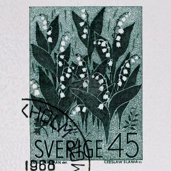 1968 Sweden Lily of The Valley Postage Stamp