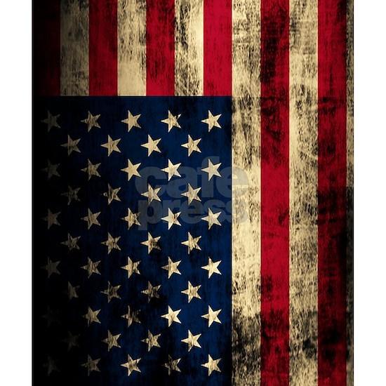 Vintage American Flag Grunge