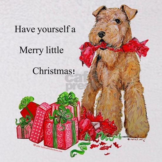 Airedale 11x11 Merry Christmas