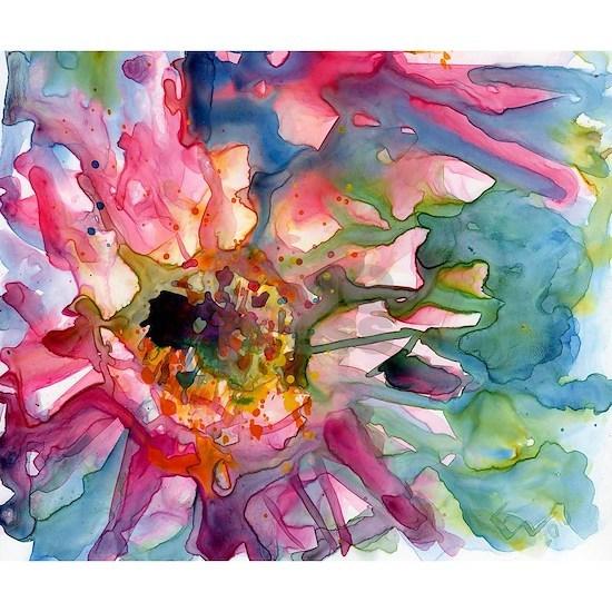 Cactus Flowers Watercolor