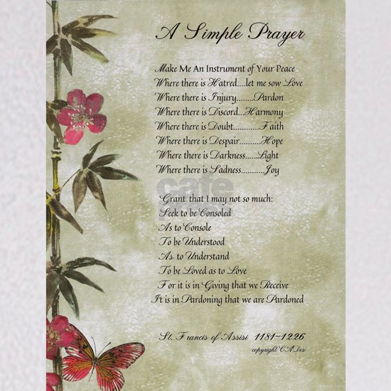 Pope Francis St. Francis SIMPLE PRAYER-Bamboo2