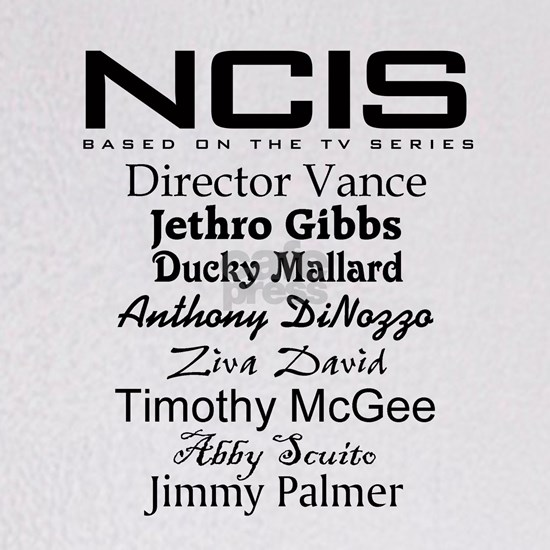 NCIS characters for light colors copy