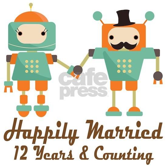 12th Anniversary Vintage Robot Couple