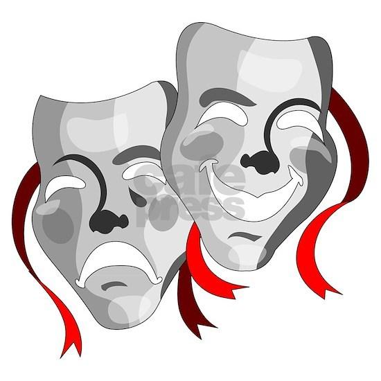 Drama Masks Gray