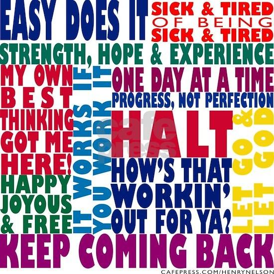 AA 12-Step Slogans