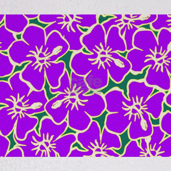 Purple Hibiscus Hawaiian Flowers