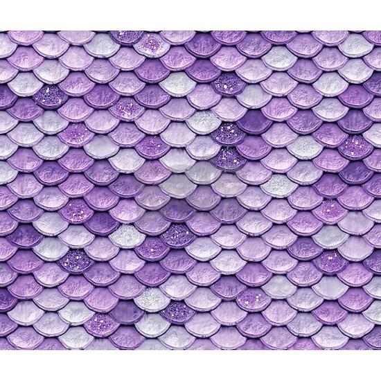 Purple Iridescent Shiny Glitter Mermaid Scales