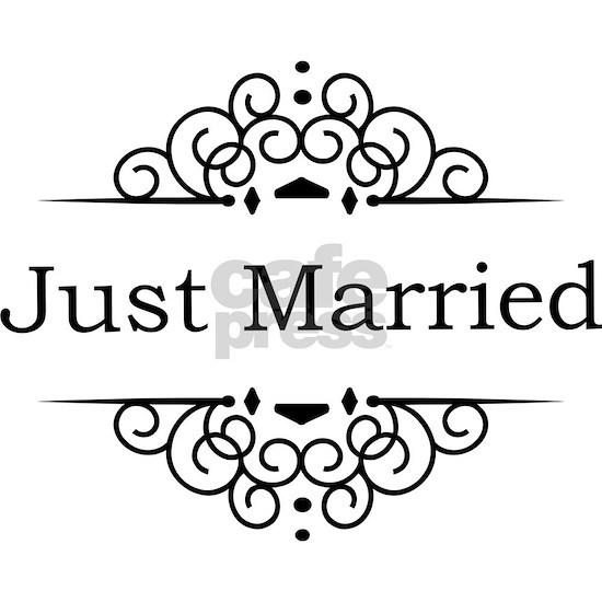 Just Married in Black