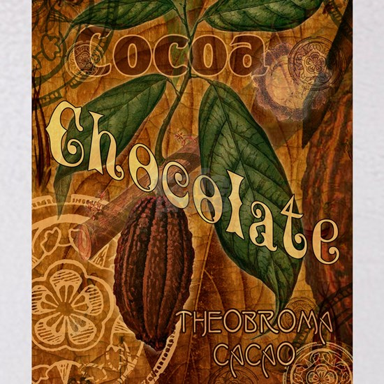 Chocolate Botanical Collage