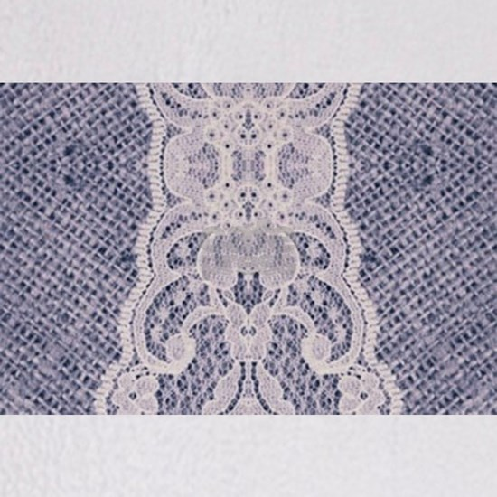 burlap lace fashion