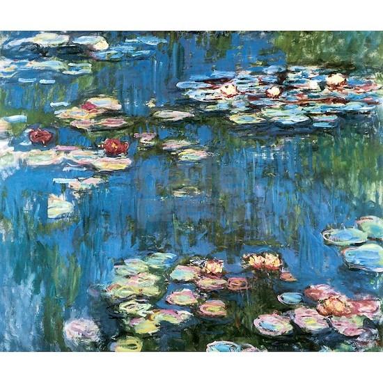 Waterlilies by Claude Monet, Vintage Impressionism