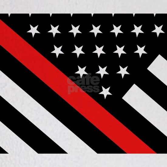 Firefighter Flag: Thin Red Line