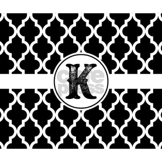 Black Monogram: Letter K