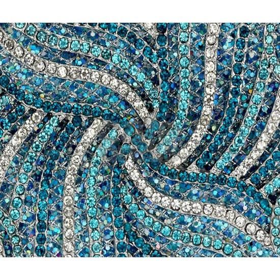 bohemian swirls teal turquoise