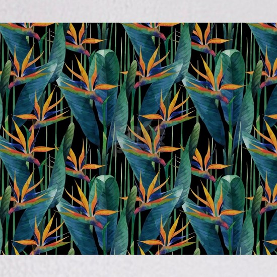 Watercolor Painting Tropical Bird of Paradise Plan