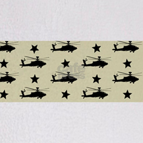 AH-64 Apache Helicopter Pattern (Sand)