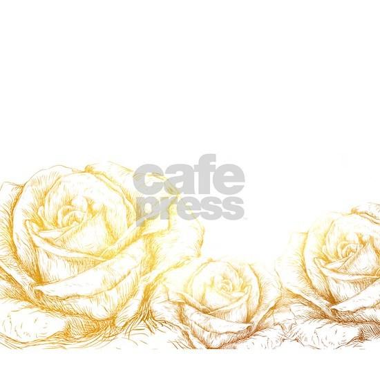 Vintage Roses Floral Gold Decorative
