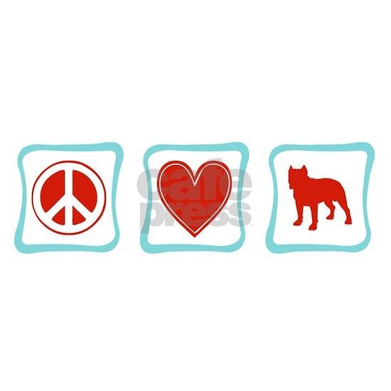 PeaceLoveStaffordshireTerriersSquares