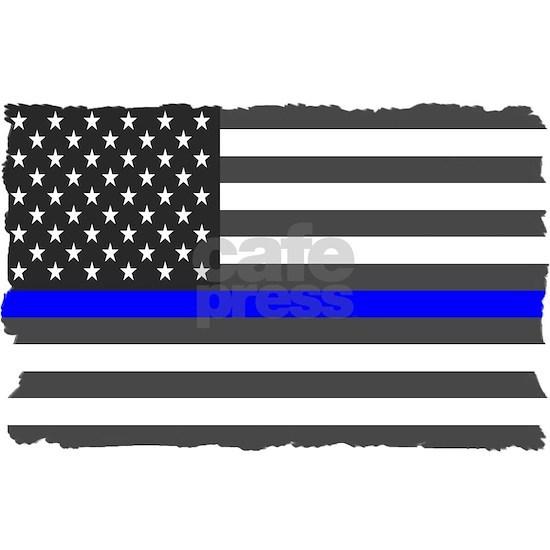 US Flag Blue Line