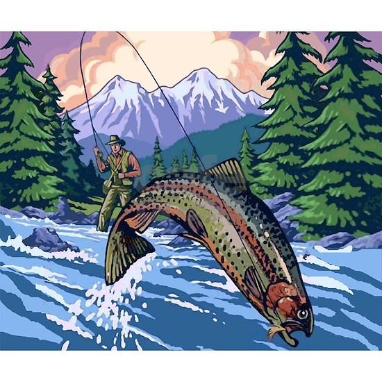 Mountain Trout Fisherman