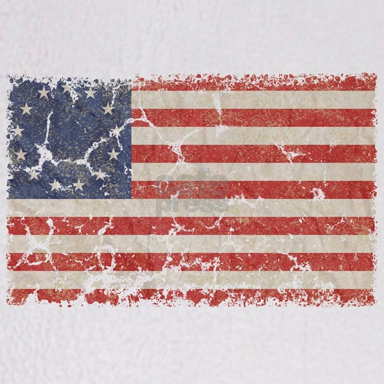 13 Colonies US Flag Distressed