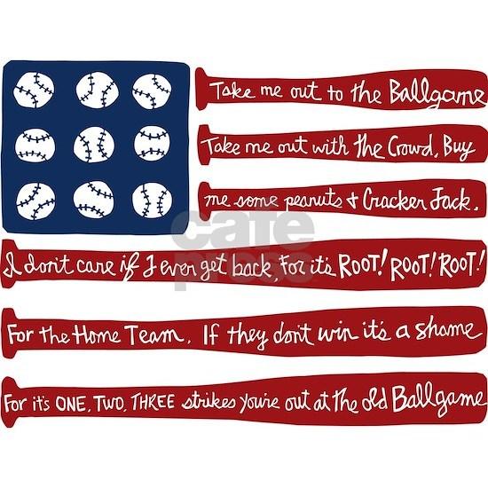 Baseball/flag