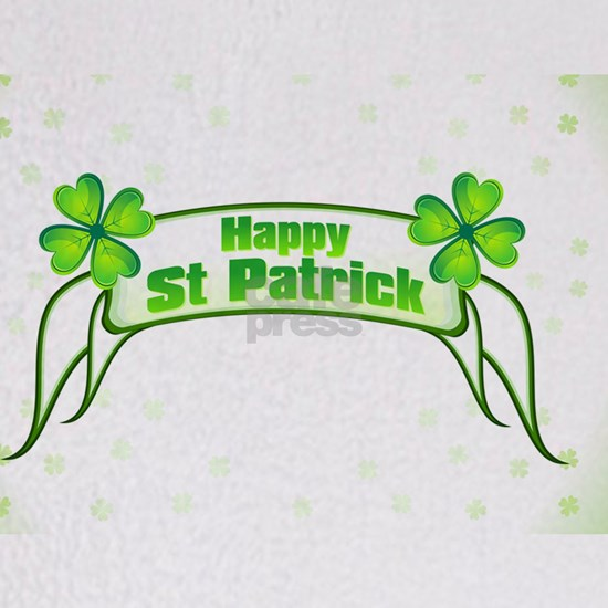 Abstract St Patrick Ribbon Background