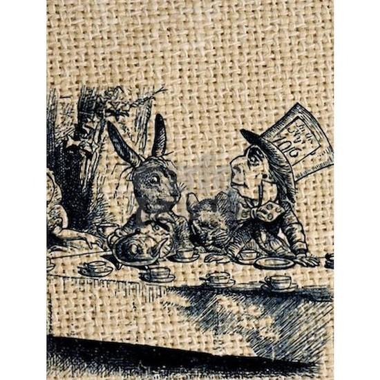 alice in wonderland tea party illustration