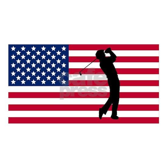 Golfer American Flag
