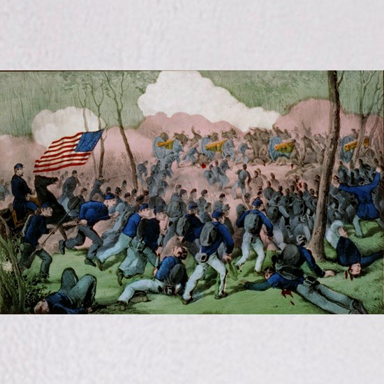 Glorious charge of Hancock's division of the Army