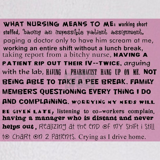 what nursing means to me pink