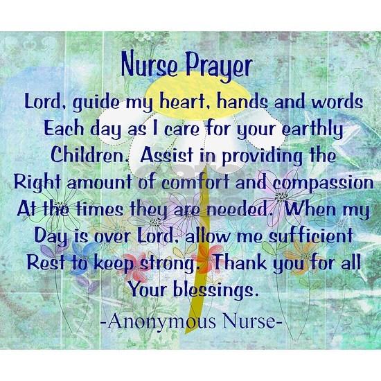 Nurse prayer blanket BLUE