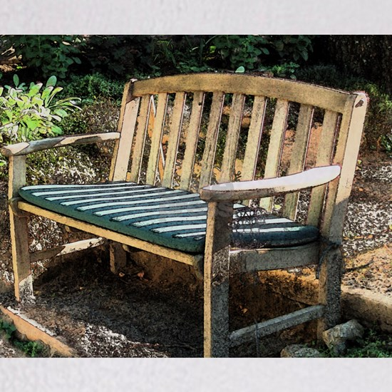 sunny bench 14 x 10 print
