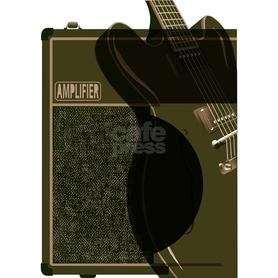 Guitar And Amplifier Abstract