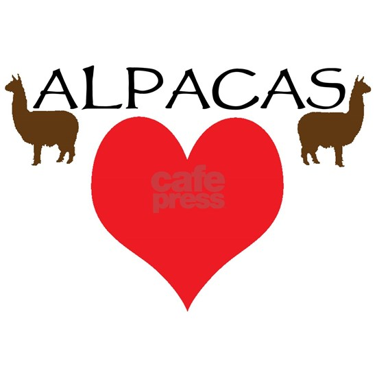 two alpacas heart color