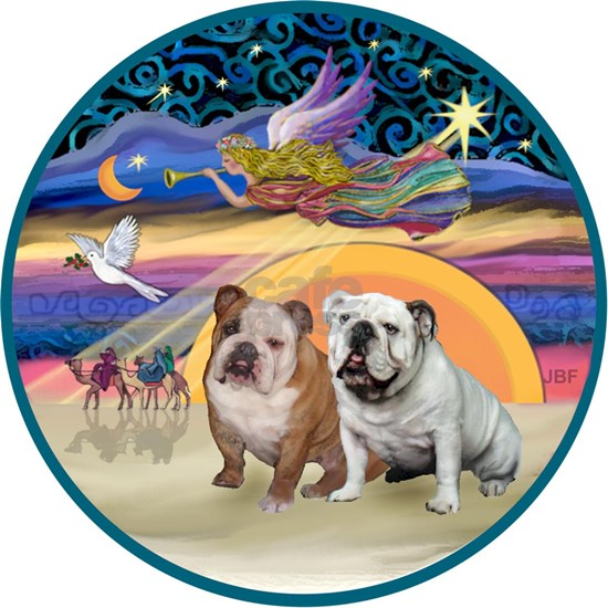 Xmas Star (R) - Two English Bulldogs