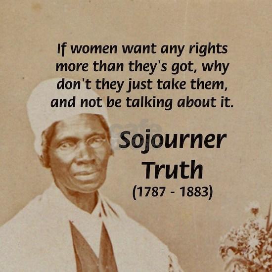 Feminist Sojourner Truth Tile Coaster