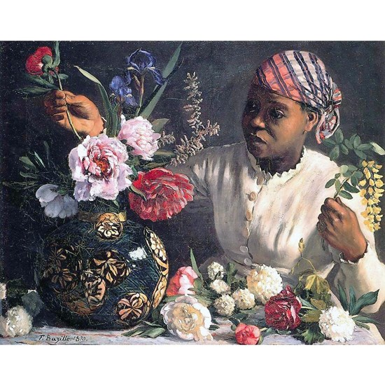 African Women with Peonie