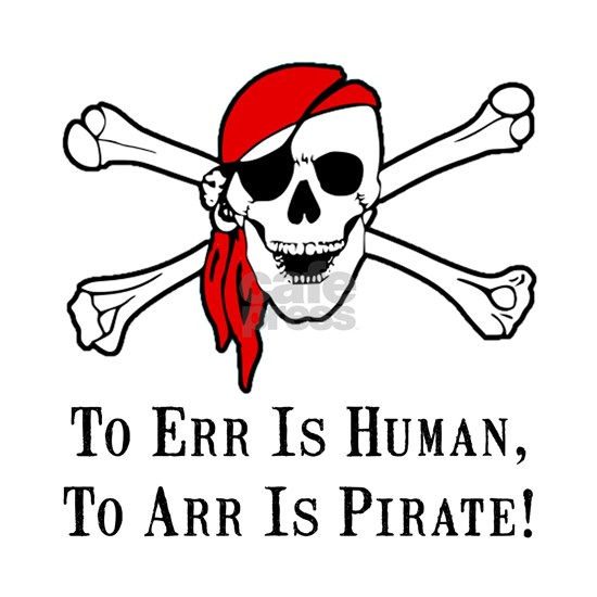 To Arr Is Pirate Adult Black