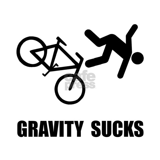 Gravity Sucks Bike Black