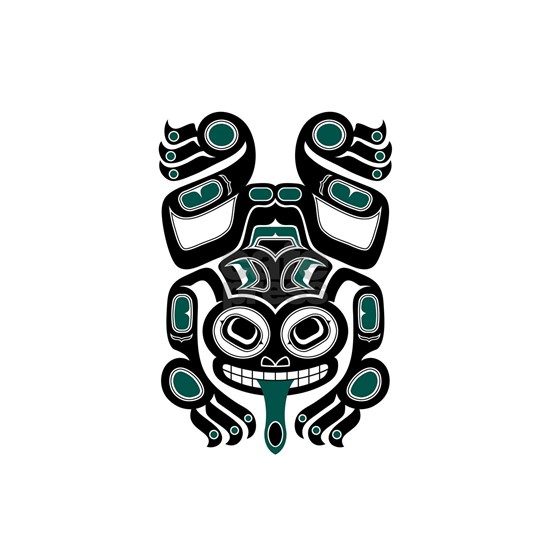 Teal Blue and Black Haida Tree Frog