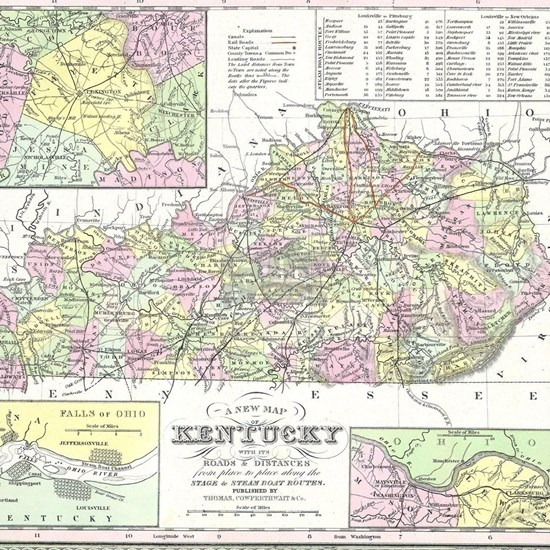 Vintage Map of Kentucky (1850)