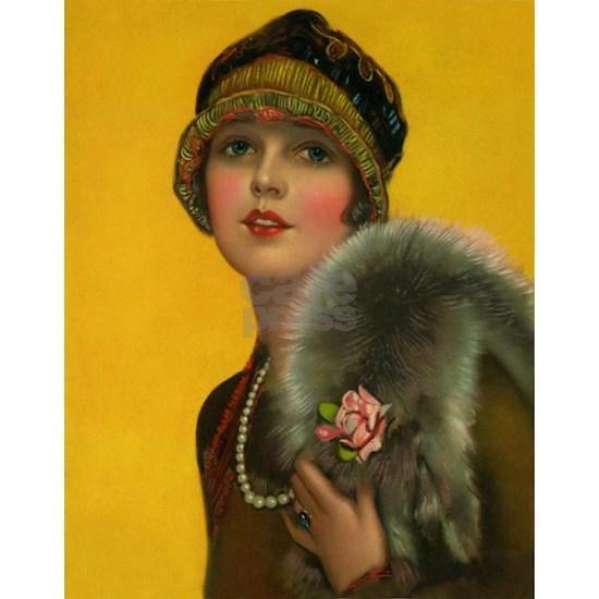 Flapper, Girl, Art Deco, Vintage Poster