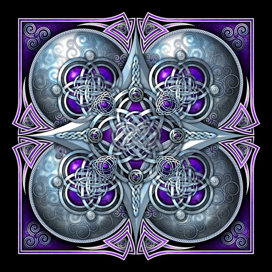 Silver and Purple Celtic Tapestry